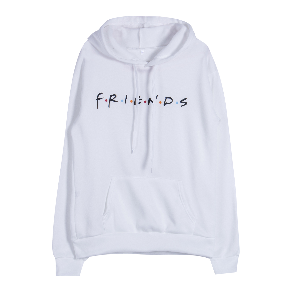 Kpop Adult Unisex Mens Letter Friends Printing Chic Simple Hoody Jumper Hooded Sweatershirt Pullovers Autumn Winter Casual