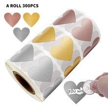 300 sztuk w kształcie serca różowe złoto Scratch Off naklejki na niestandardowe gry Party aktywność naklejki jasne naklejki naklejki papiernicze