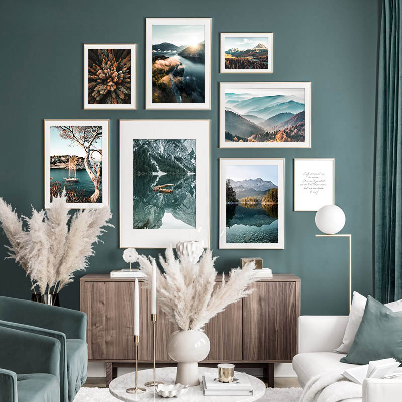 Скандинавский Принт плакат, пейзаж природы, холст, живопись, путешествия, фотография, искусство, лес, Осенний пейзаж, Настенный декор, картина