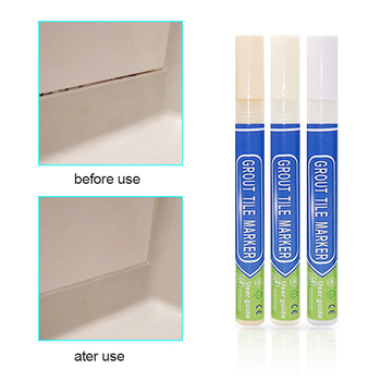 Floor Cleaner Anti Mould Grout Pen For Revives Restores Tile In Kitchen Shower White Beige NEW Household Cleaning Chemicals image