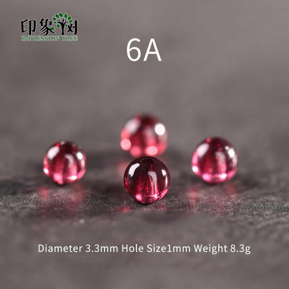 1 stücke AAAAAA + 3,3mm Natürliche Stein Dark Red Glatte Granat Runde Lose Perlen DIY Muilt Reihe Armband Halskette schmuck Machen 22017