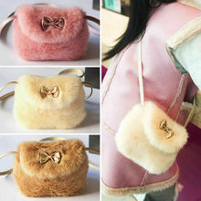 Cute Kids Children Girls Mini Bowknot Crossbody Bags Soft Handbags Bag Purse