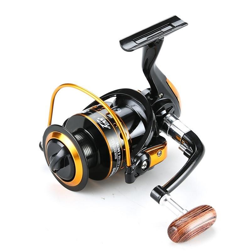 K8356 Metal Spool Fishing Spinning Reel 1000-7000 5.2:1 12BB Interchangeable Handle Wheel Freshwater Saltwater Fishing Tackle