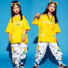 Kids Cool Fashion Ballroom Hip Hop dancing Outfits Tshirt Cargo dancing pants Jazz Dance Wear Costumes Clothes For Boys Girls