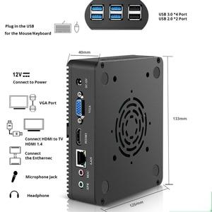 Image 4 - HLY มินิพีซี Intel Core i5 4210Y Pentium 4405U i7 i3 Celeron 2955U คอมพิวเตอร์ Fanless Windows 10 7 DDR3L สก์ท็อปอุตสาหกรรม HDMI USB3.0 USB2.0 Htpc ไมโคร MINIPC ลูกค้าบาง NUC VGA Ubuntu Linux ลักซ์ที่บ้าน Computador
