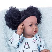 22 Inches Real Reborn Baby Full Doll Julie Blake Silicone Costume Accessories Gift Set Silicone Vinyl Body (Clothing is Random)