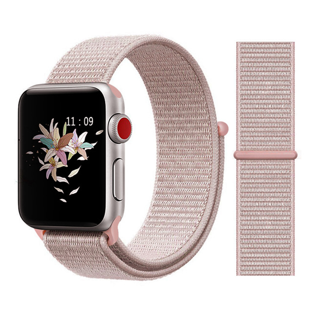 Sport Loop Strap For Apple Watch 4 For Iwatch Band 42mm 44mm 38mm 40mm For Apple Watch Bands Nylon Correa Bracelet Watchbands