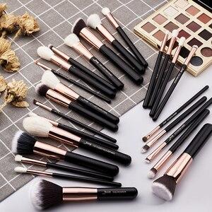 Image 5 - ジェサップ美容25個メイクブラシセット自然な髪maquiagemプロフェッショナル完全なファンデーション輪郭蛍光T155