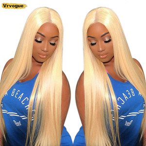 Straight 613 Lace Front Wig Remy Glueless Brazilian T-Part 28 Inch T-Part Lace Human Hair Wigs for Black Women 150% Vrvogue