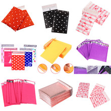 10pcs/lot Courier Self Seal Envelope Bags Lined Poly Foam Bubble Mailers Padded Mailing Bag Waterproof Postal Shipping Bag