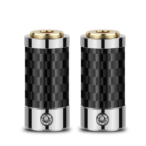 Image 5 - 2PCS Mini Jack 2.5mm 3.5mm Audio Jack Connector Female Seat Metal Adapter Copper Gold Carbon Fiber Balanced Earphone Plug
