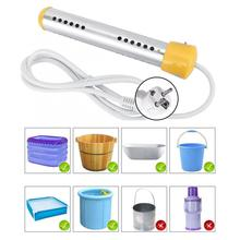 1.5m 2000W Anti burn Floating Electric Heater Boiler Water Heating Element Portable Immersion Suspension Bathroom Swimming Pool