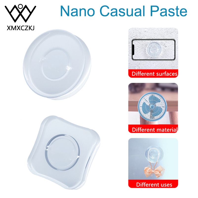 Universal Magic Nano Stickers No Trace Magic Nano Casual Paste Rubber Pad Wall Stickers Strong Adsorption Desk Sticker Gel Paste