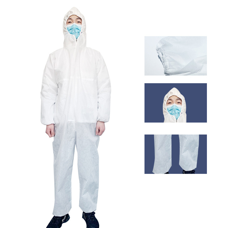Dental Disposable Waterproof Oil-Resistant Protective Suit Coverall  Dentist Protective Clothing Dental Lab Clothes Coverall