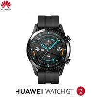 Original huawei relógio gt2 gt 2 relógio inteligente bluetooth smartwatch 5.1 14 dias bateria vida telefone chamada freqüência cardíaca para android ios|Relógios inteligentes| |  -