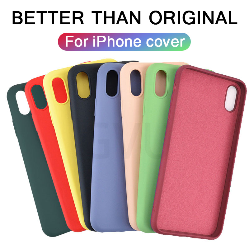 Luxury Thin Soft Official Silicone Case For iphone 7 8 6 6S Plus X XS 11 Pro MAX XR Case for Apple iphone X 10 Cover case Coque