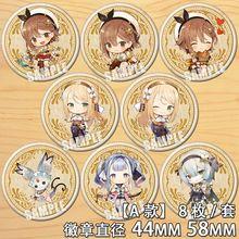 Anime Atelier Ryza: toujours l'obscurité et la cachette secrète Figure 6686 Badge broche ronde broche cadeaux enfants Collection jouet
