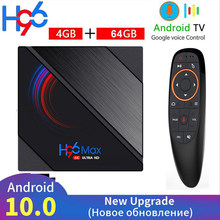 2020 h96 caixa esperta máxima da tevê android 10 allwinner h616 4gb 64gb 32gb 2.4g & 5g wifi 6k hd youtube google media player android caixa de tevê