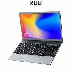 Kuu 14.1 Polegada 8gb ddr4 ram 256g 512g ssd windows 10 computador portátil intel j4115 quad core tamanho completo teclado estudante notebook