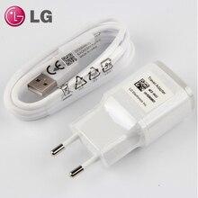 الأصلي LG G5 الاتحاد الأوروبي التوصيل سريع السفر شاحن جداري USB كابل ل LG Nexus G5 V30 V20 G6 F800 F700 H860N H990N MCS H05WD مع Type C