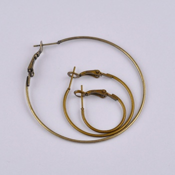 500pcs antique bronze 50mm hoop earring findings round circle ring earrings jewelry findings accessories