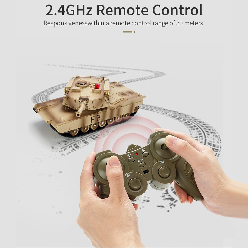 Q90 1/30 Remote Control Military Battle Car Full-Function Stunt RC Models Vehicle With Lights For Boys Gift