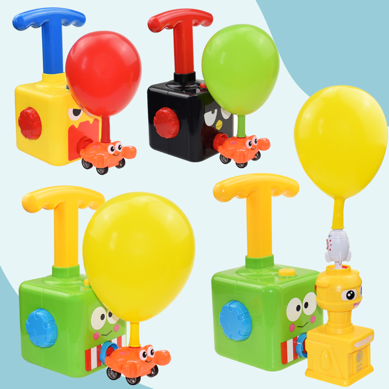Inertia Balloon Launcher /& Powered Car Toy Set Toys Gift For Kids Experiment US