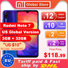 "Global Versi Xiaomi Redmi Note 7 3GB 32GB Smartphone Snapdragon 660 Octa Core 4000 MAh 6.3 ""2340X1080 48 + 13MP Telepon(China)"