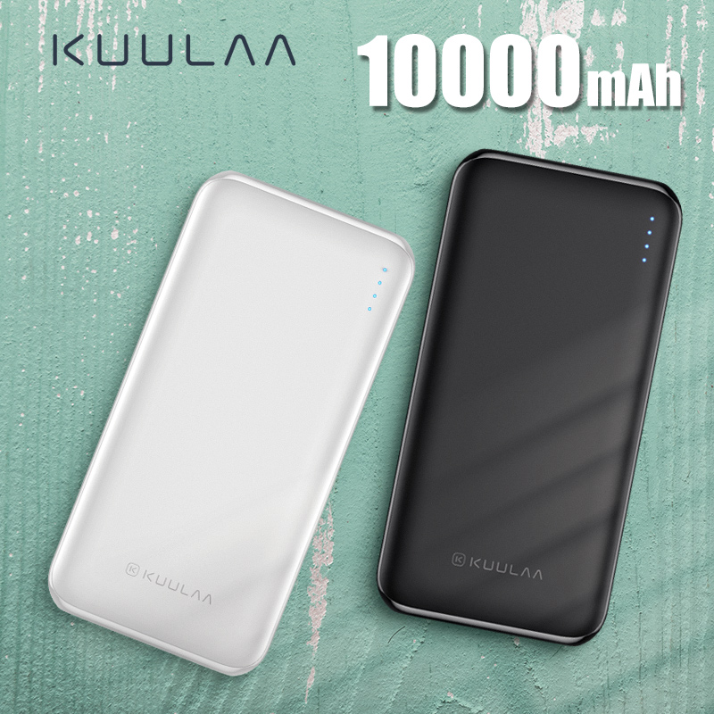 KUULAA Power Bank 10000 mAh Power Tragbare Lade Poverbank 10000 mAh USB Externe Batterie Ladegerät Für Xiao mi mi 9 8 iPhone