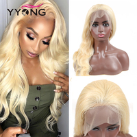 Yyong 613 Blond Full Lace Wigs Remy Blond Brazilian Body Wave Full Lace Human Hair Wigs Natural Hairline With Baby Hair 120%