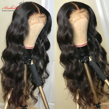 цена на 13x4 Lace Front Human Hair Wigs Arabella High Ratio Remy Hair Pre Plucked Bleached Knots Glueless Brazilian Body Wave Lace Front