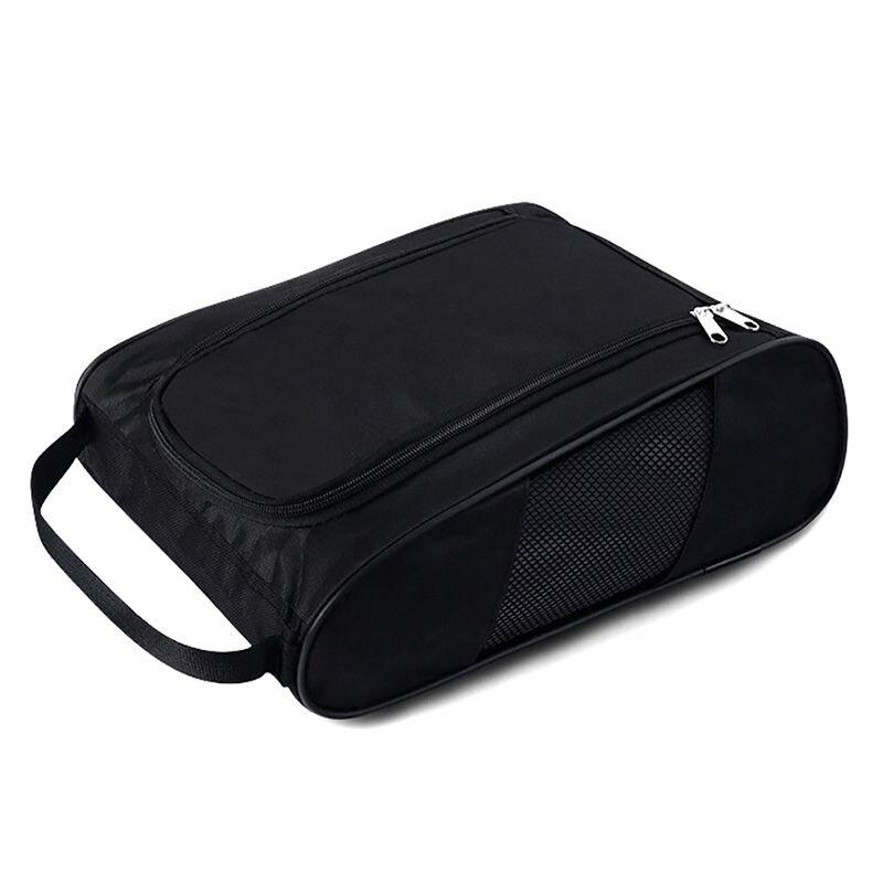 Portable Golf Shoes Bag Zipper Shoe Case Breathable Water Resistant Carrier Shoe Accessory