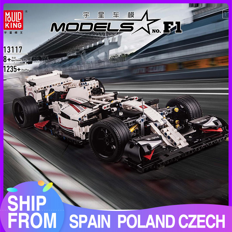 MOULD KING MOC 13117 <font><b>Technic</b></font> City F1 Racing car The 24 hours Race Car Model Building Blocks Bricks with <font><b>42096</b></font> Kids Toys Gifts image