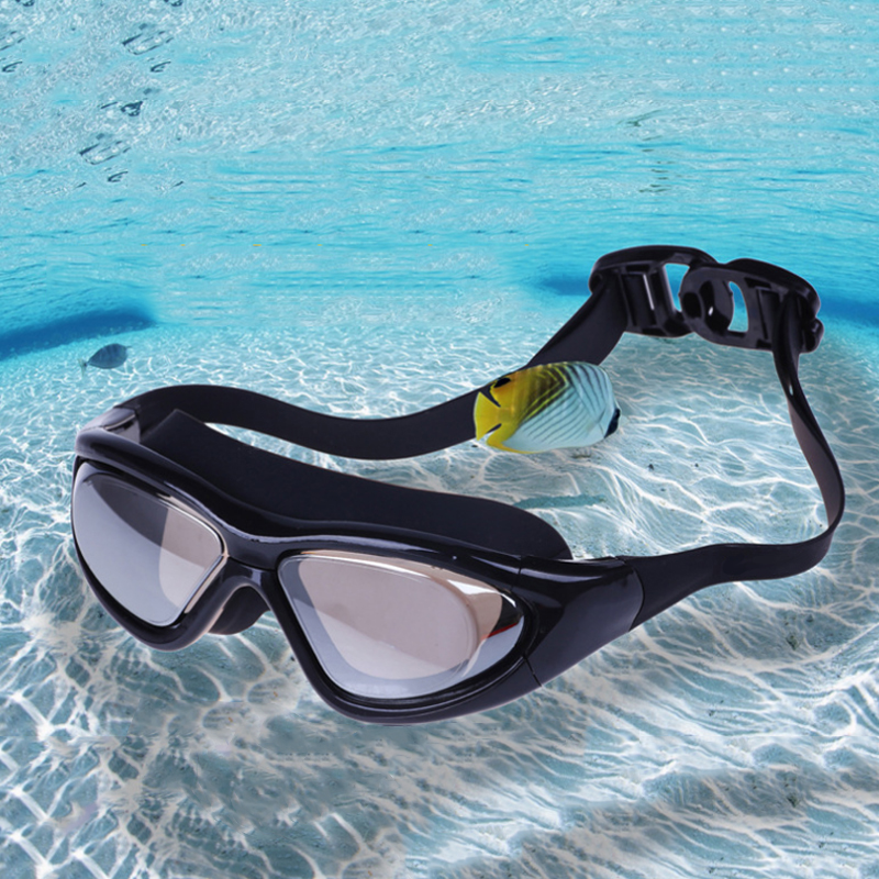 New HD Anti-fog UV Waterproof Swimming Goggles Adjustable Adult Swimming Glasses For Men Women