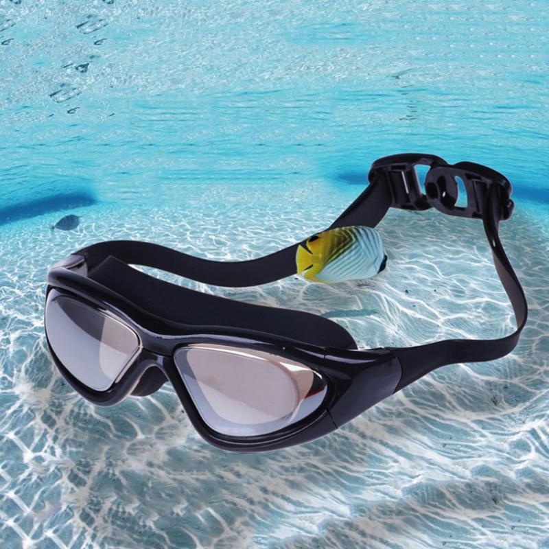 New HD Anti-fog UV Waterproof Swimming Goggles Adjustable Adult Swimming Glasses For Men Women