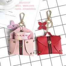купить 2019 New Fashion Can Love Small Coin Wallet Key Chain Mini Coin Wallet Zipper Small Wallet Key Ring PU Leather Handbag Pendant по цене 52.1 рублей