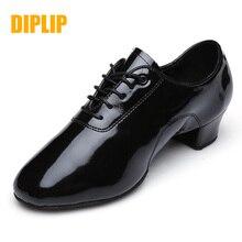 DIPLIP ใหม่ Mens Latin Dance รองเท้า Dance Hall Tango เด็กชายมาตรฐานแห่งชาติรองเท้าเต้นรำ 25  45 หลา