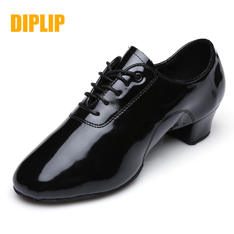 DIPLIP New Men's Latin Dance Shoes Modern Dance Hall Tango Children's Men's National Standard Dance Shoes 25-45 Yards