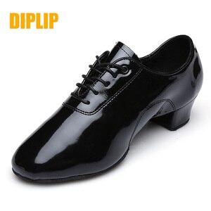 Image 1 - DIPLIP جديد الرجال أحذية الرقص اللاتينية قاعة الرقص الحديثة التانغو الأطفال الرجال الوطنية القياسية أحذية الرقص 25 45 متر