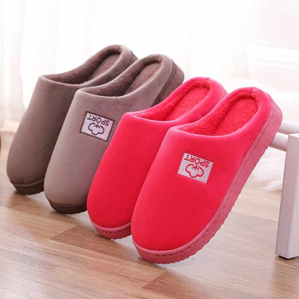 Slippers women Mens Couples Cloud Flock Warm Shoes Non-slip Floor Home soft floor furry slippers Indoor shoes woman Dropshipping