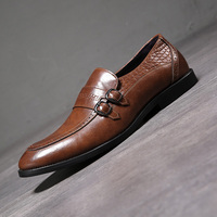 Autumn Men Dress Shoes Handmade British Style Paty Leather Wedding Shoes Men Flats Leather Oxfords Formal Shoes