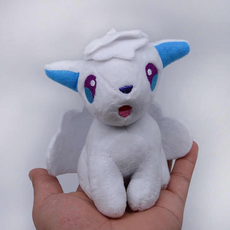 TAKARA TOMY Pokemon Pikachu Plush ของเล่น Displacement ICE Fire 6-tailed Fox Plush ตุ๊กตาตุ๊กตา Grip จี้