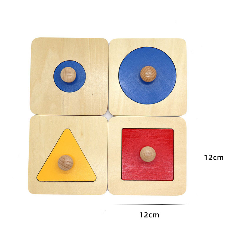 Kids Wooden Montessori Toys Memory Match Stick Educational Color Cognitive Geometric Shape Puzzles Toys For Children 45