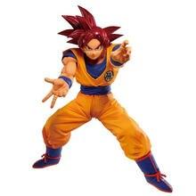 Cuteanime 100% Original Banpresto Dragonball MAXIMATIC Red Hair GokuFigure PVC Action Model Toys Anime Figure