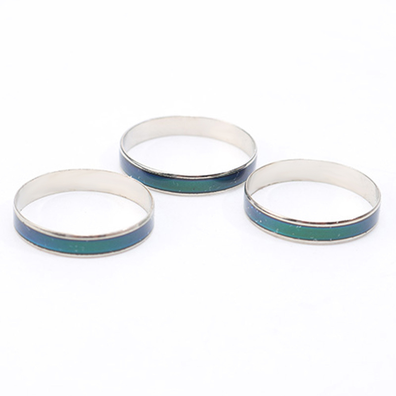 4MM Width Classic Temperature Change Color Mood Ring Hot Sale Jewelry Smart Discolor Rings Best Gift For Friends Free Shipping 1