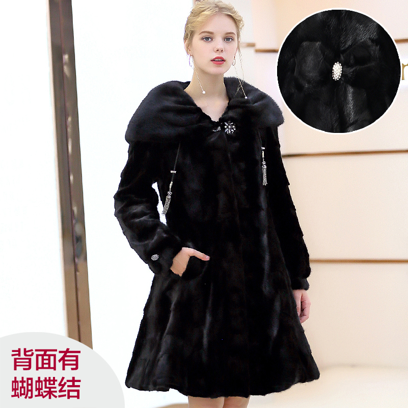 Mink Real Coat Female Natural Luxury Fur Coats Winter Jacket Women Korean Long Jackets For Women Warm Overcoat 4xl MY S S