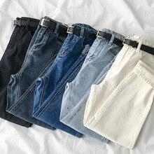 Women Jeans Straight-Pants E-Girl High-Waist Baggy Trouser Streetwear Denim 5-Colors