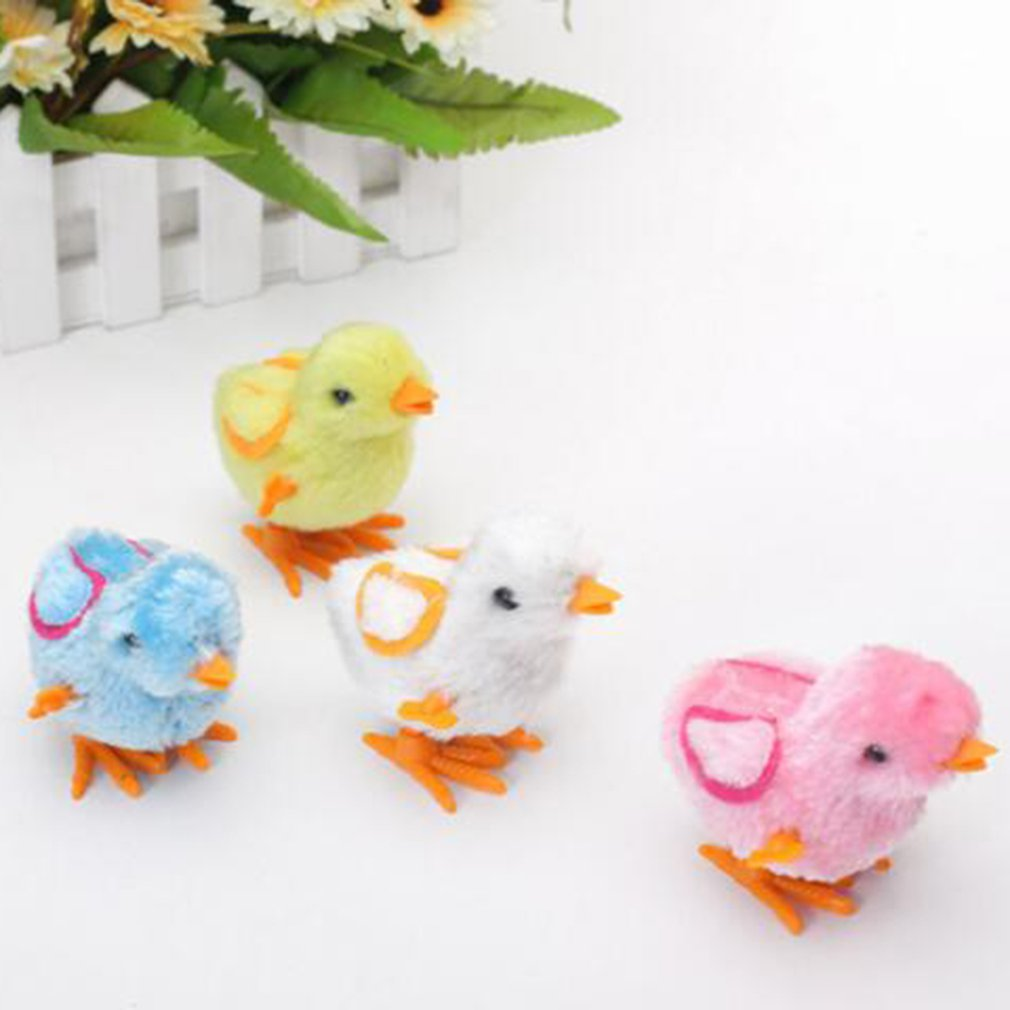 Kids Classic Tin Wind Up Toys Stuffed Chicken Chain Clockwork Chick Chicken Gifts For Kid Boys Girls Random Ship Educational Toy