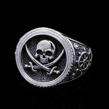 Fashion Vintage Skull Jewelry Ring Hip Hop  Punk Gothic Style Heavy Metals Punk Rock Rings For Men Women Gift