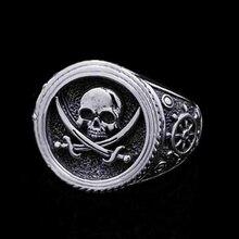 Anillo de joyería de calaveras Vintage de moda Hip Hop estilo gótico Punk Heavy Metals Punk Rock anillos para hombres y mujeres regalo